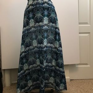 CHARLOTTE RUSSE MAXI SKIRT WITH BUILT IN SHORT